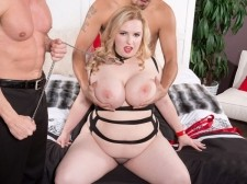 A Big-Boob Anal Villein For Two Men
