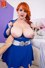 Katrin Porto: Thick, Soaked Redhead Drains Two Studs